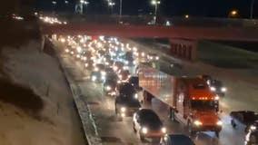 Series of wrecks on I-696 shut down highway for hours Wednesday morning