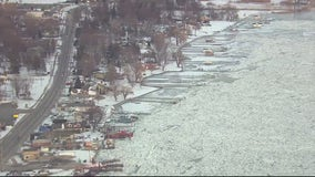 U.S. Coast Guard breaking ice jams on St. Clair River after flood warnings