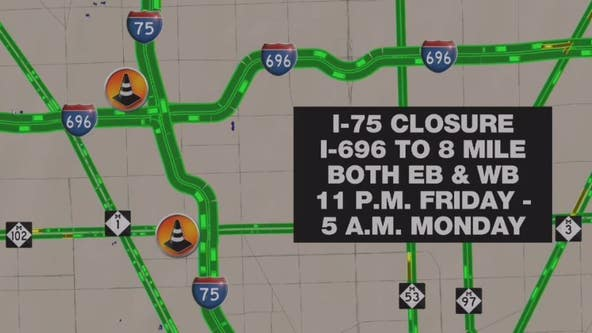 Plenty of Detroit area freeway closures to watch this weekend