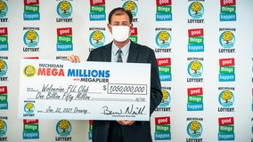 Oakland County lottery club claims Michigan's largest prize -- $1.05B Mega Millions jackpot