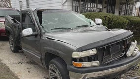 Wild accident in Detroit neighborhood after speeding cars collide, strike parked car and home