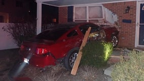 Royal Oak Police get call on speeding Mustang, find it crashed into house minutes later