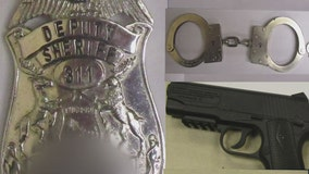 Wyandotte suspects busted with fake police badge, cop gear and thousands in stolen goods