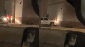 Video: Suspect pins man against wall with truck at Utica Dave and Busters