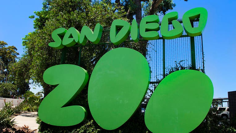 Famous San Diego Zoo sign in Balboa Park in San Diego California