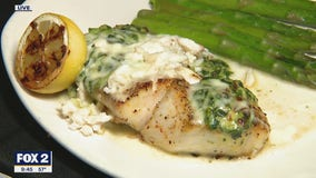 Bonefish Grill shows us how to make butterfish rockefeller