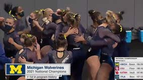 WATCH - Jennifer Hammond has a report on the University of Michigan women's gymnastics team that won the national championship on Saturday night