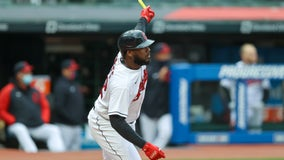 Reyes homers twice, Plesac strong as Indians beat Tigers