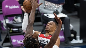 Westbrook's triple-double, Beal's 37 lead Wiz over Pistons