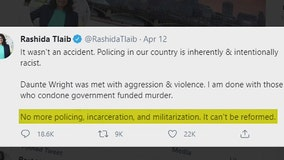 Tlaib tweet saying policing should be abolished after Daunte Wright killing draws cheers, jeers