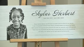 5-year-old COVID-19 victim Skylar Herbert honored in naming ceremony at DPD headquarters