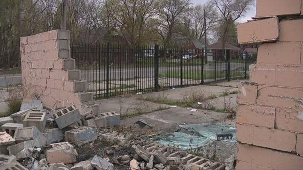 Detroit EMS crash sends unit through iron fence, into brick wall on east side