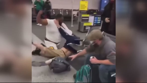 Video shows wild brawl at Detroit Metro Airport after issue on flight
