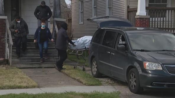 Human skeleton found lying on couch inside vacant Detroit home