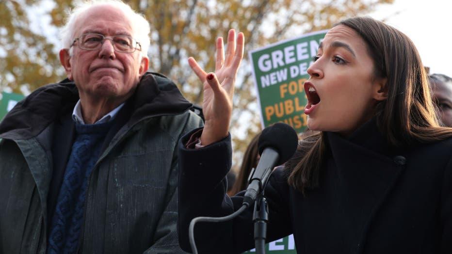 b49c7b41-Sen. Bernie Sanders And Rep. Alexandria Ocasio-Cortez Introduce Housing Green New Deal