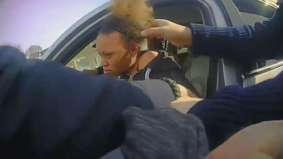 Video still taken from River Rouge police stop of Maliyah Clary.