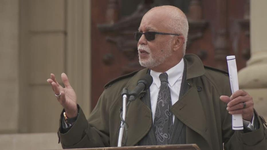 Wayne County Executive Warren Evans attended the protest against the proposed bills.