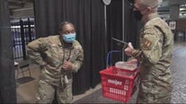 Military personnel reflect on Ford Field mass vaccine clinic as it comes to an end