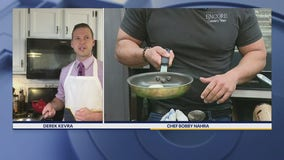 Chef Bobby's trick to practicing the 'omelette flip'