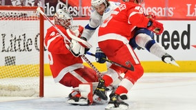 Lightning beat Red Wings 2-1, aiming for Carolina in Central