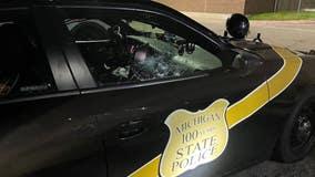 MSP: Royal Oak man smashed patrol car window with head, spit at police officer during arrest
