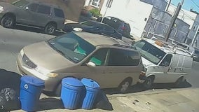 Caught on camera: Driver pushes vehicle out of parking space