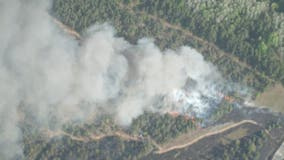 Northern Michigan fire forces 75 homes to evacuate, burning 425 acres