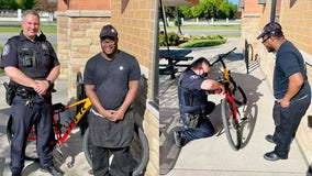 Someone stole a Taco Bell employee's bike in Ferndale. So local police gave him a new one