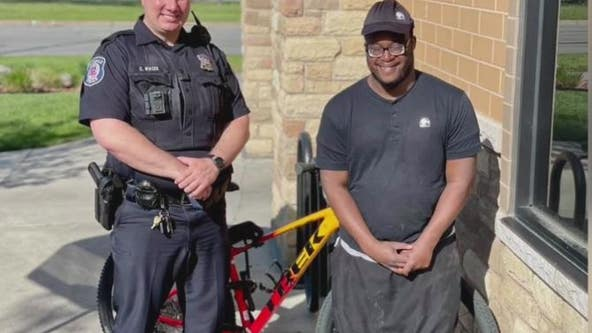 Ferndale police officer replaces man's stolen bike so he can get to work