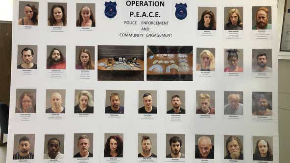 Serial robberies, mutilating a body, and prostitution; Warren police detail citywide drug probe