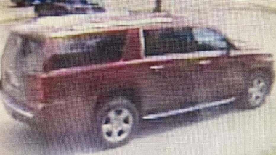 Kidnapping suspect Adrian Brown's SUV.