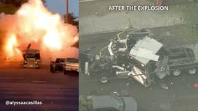 Bomb squad truck carrying illegal fireworks explodes in South LA, 17 people hurt