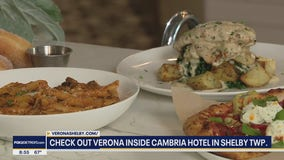 Verona offers inspired Italian dishes inside the Cambria Hotel in Shelby Township
