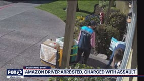 Amazon delivery driver arrested for assault; says she punched 67-year-old in self defense