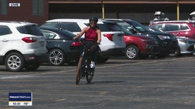 Deena and Lee take an electric bike for a spin