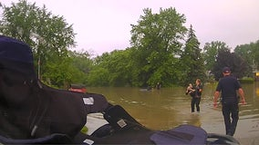 Clinton Township Police swim through flood waters to save 82-year-old woman trapped