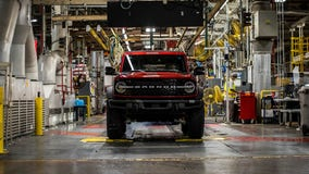 Ford's first fully assembled 2021 Broncos rolling off the line Tuesday