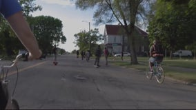 Pedal with the Pistons event takes cyclists around Detroit