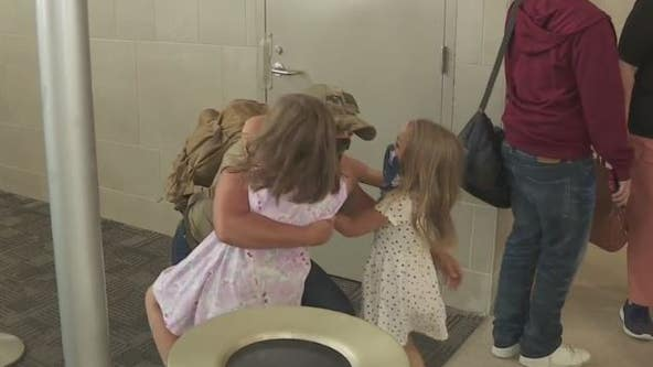 Air Force reservist mom gets airport surprise coming home from basic training