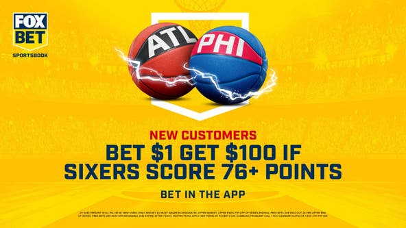 Bet $1 on FOX Bet, get $100 when the Sixers score more than their team name