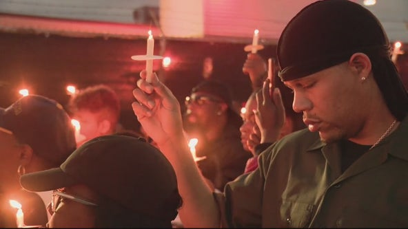 Family holds candlelight vigil for 2-year-old Brison Christian