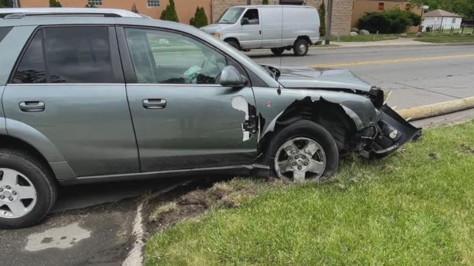 A photo of a recent crash on Schoenherr.
