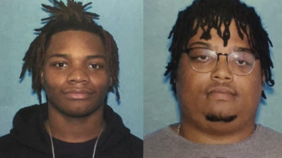 Brothers James Jones Jr., left, and Sedale Gilliam are named as suspects in a shooting on Detroit's east side.