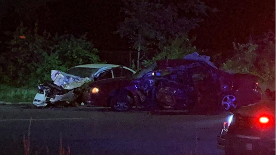 Detroit police say a collision between two cars around 1:30 a.m. on the city's west side left a male adult and a 4-year-old child dead.