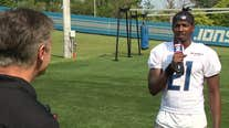 WATCH - Dan Miller talks to Lions safety, Tracy Walker