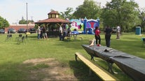 Detroit Police hold recruiting event for 10th precinct at Knox Park
