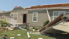 Tornado's direct hit takes off top of Armada family's home