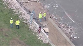 Northbound I-75 reopens one lane after sinkhole forms under freeway in Madison Heights