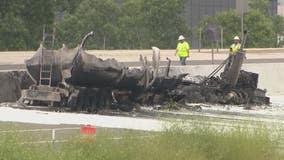 One lane reopens NB on I-75 at Big Beaver after tanker crash, fire