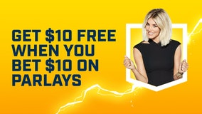 Get $10 free on FOX Bet when you bet $10 on parlays on Mondays